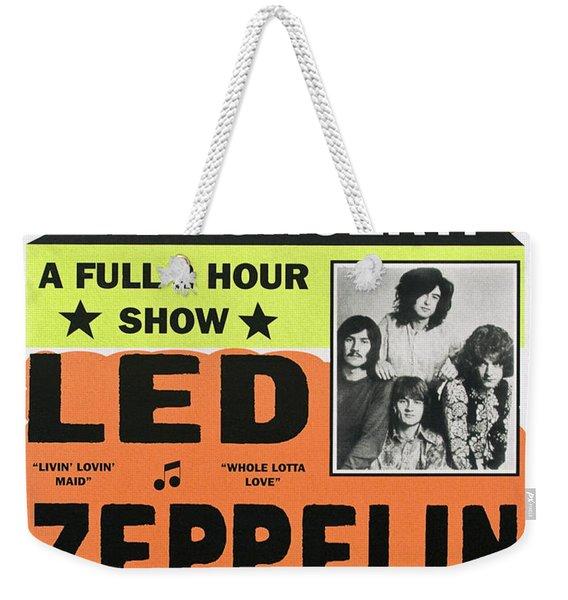 Led Zeppelin Concert Poster 1970 Weekender Tote Bag