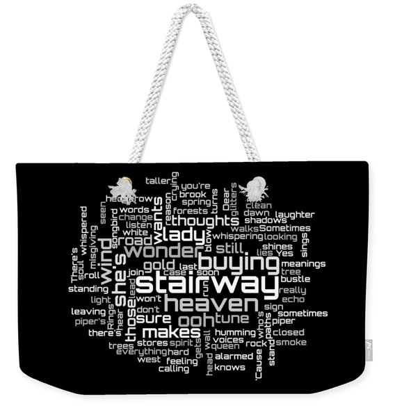 Led Zeppelin - Stairway To Heaven Lyrical Cloud Weekender Tote Bag