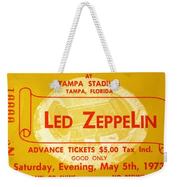 Led Zeppelin Ticket Weekender Tote Bag