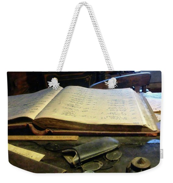 Ledger And Eyeglasses Weekender Tote Bag