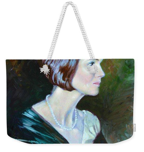 Ledy In Green Weekender Tote Bag