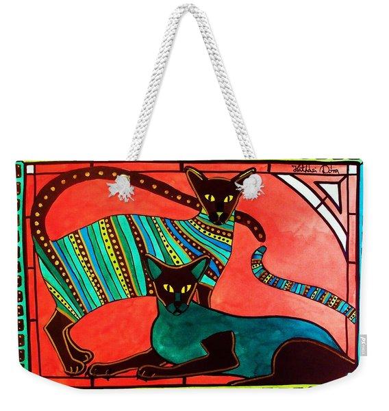 Legend Of The Siamese - Cat Art By Dora Hathazi Mendes Weekender Tote Bag