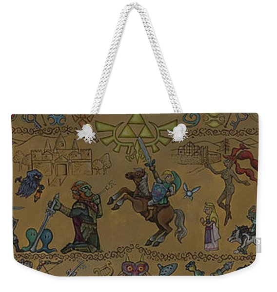 Legend Of Zelda Tapestry Weekender Tote Bag
