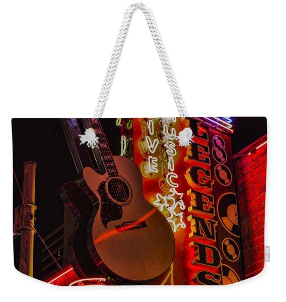Legends Corner Nashville Weekender Tote Bag