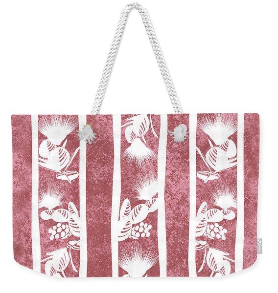 Lehua Stripes  Dusty Cedar Weekender Tote Bag