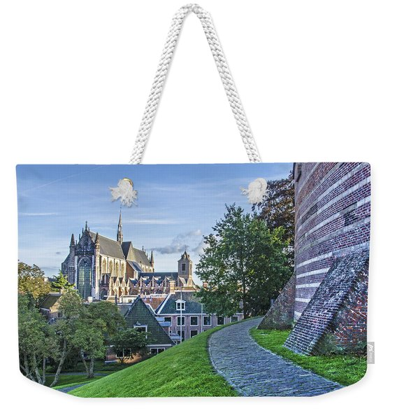Leiden, The Church And The Castle Weekender Tote Bag