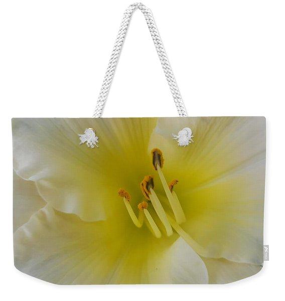 Lemon Daylily Weekender Tote Bag