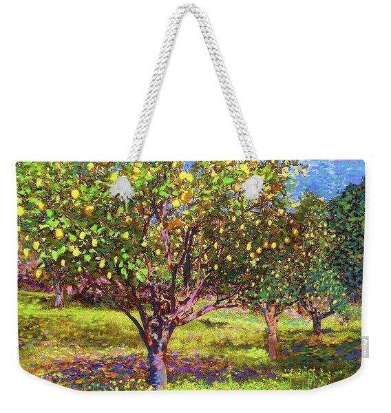 Lemon Grove Of Citrus Fruit Trees Weekender Tote Bag