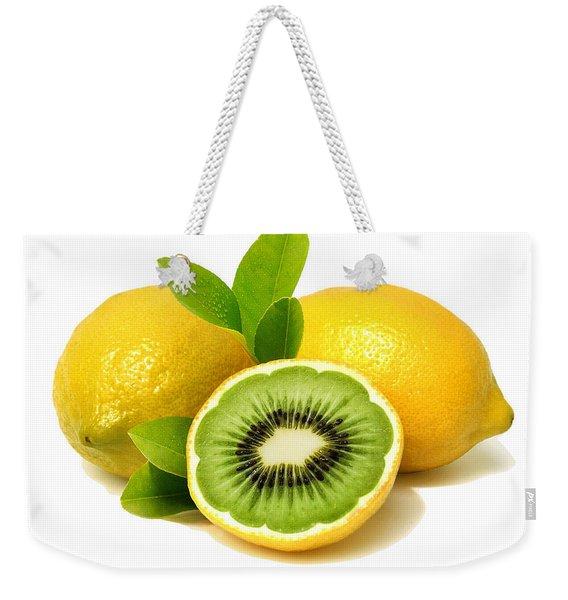 Lemon Kiwi Weekender Tote Bag