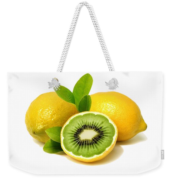 Lemon Kiwi Weekender Tote Bag