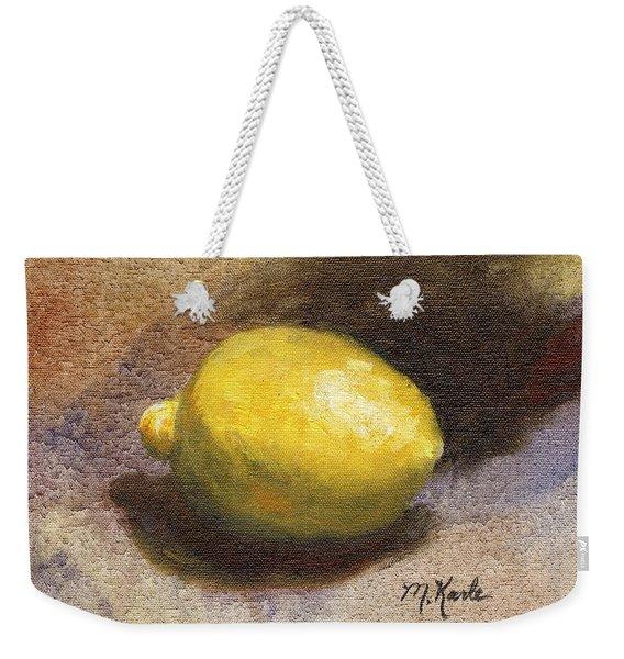 Lemon Still Life Weekender Tote Bag