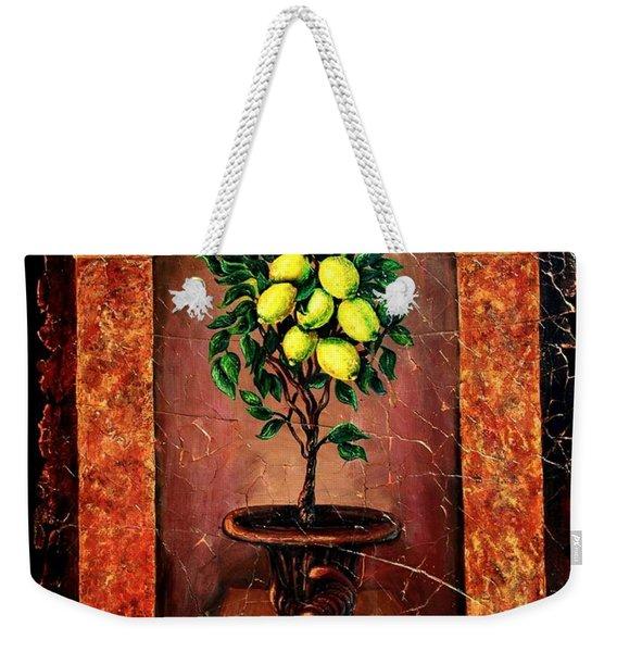 Lemon Tree Weekender Tote Bag