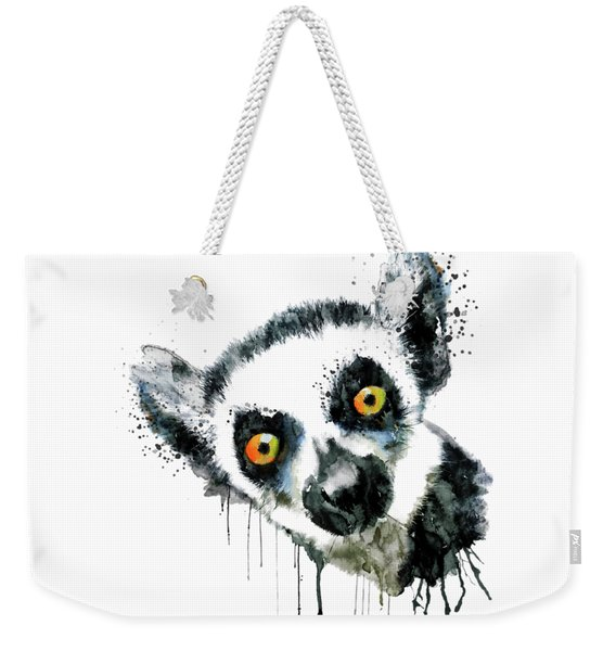 Lemur Head  Weekender Tote Bag