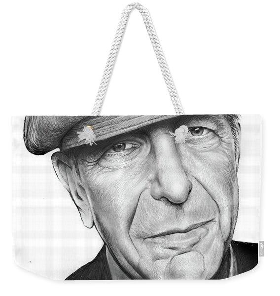 Leonard Cohen Weekender Tote Bag
