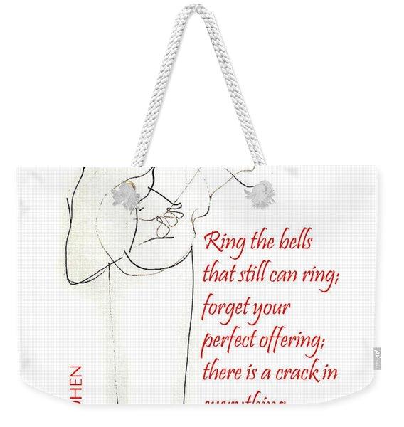 Leonard Cohen Light Weekender Tote Bag