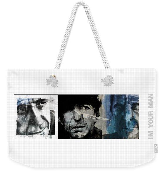 Leonard Cohen Triptych Weekender Tote Bag
