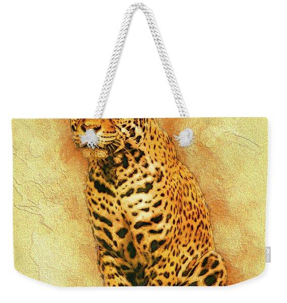 Leopard 4 Weekender Tote Bag