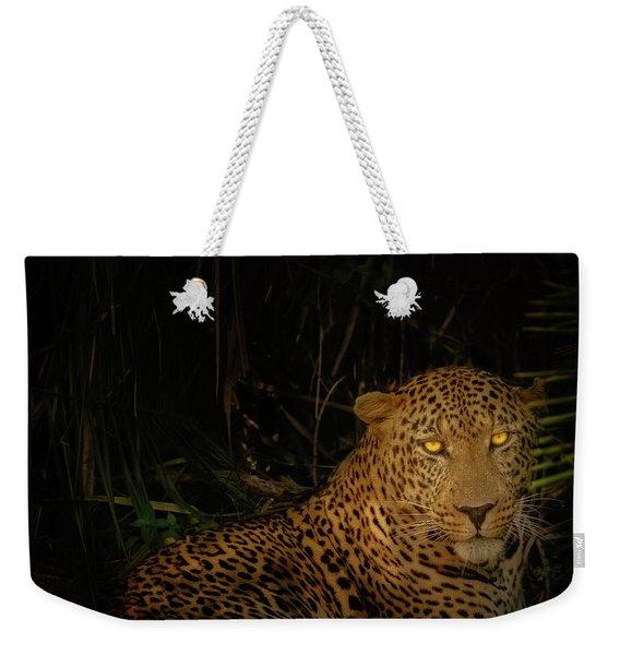Leopard Hiding Weekender Tote Bag