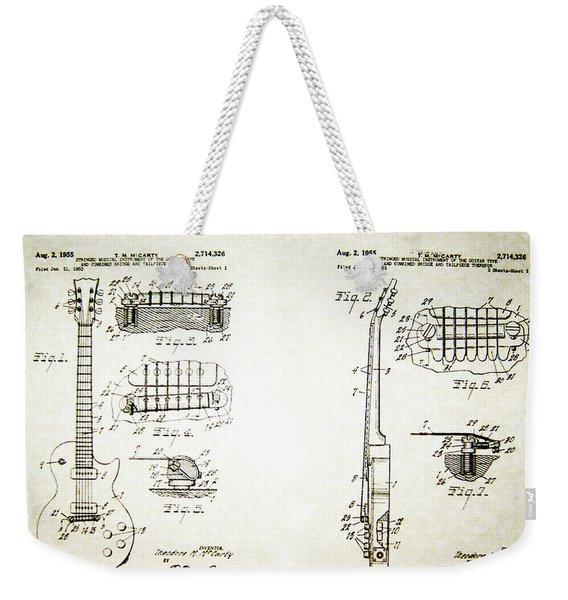 Les Paul Guitar Patent 1955 Weekender Tote Bag