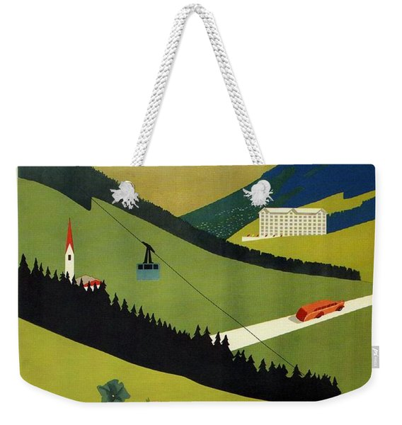 L'estate Nell Alto Adige, Italy - Retro Travel Poster - Vintage Poster Weekender Tote Bag