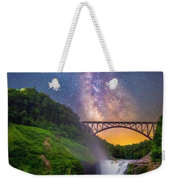 Letchworth And The Milky Way Weekender Tote Bag