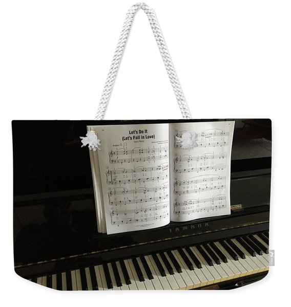 Weekender Tote Bag featuring the photograph Let's Fall In Love Or At Least Sing About It. by Frank DiMarco