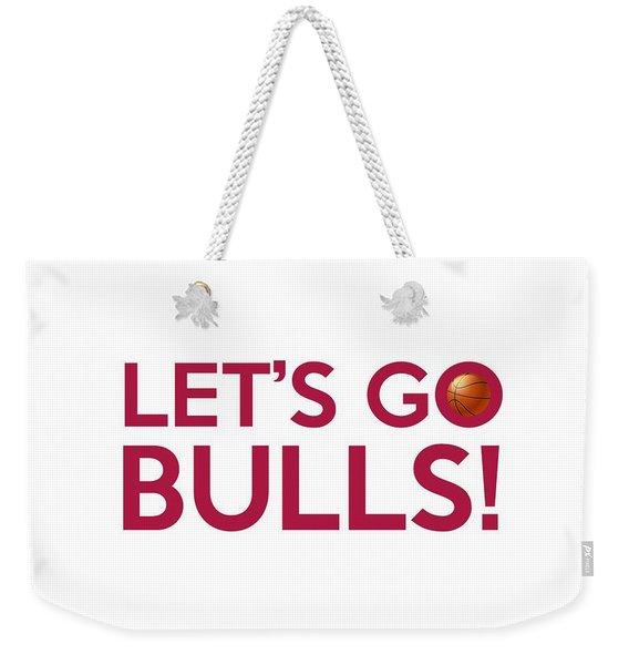 Let's Go Bulls Weekender Tote Bag