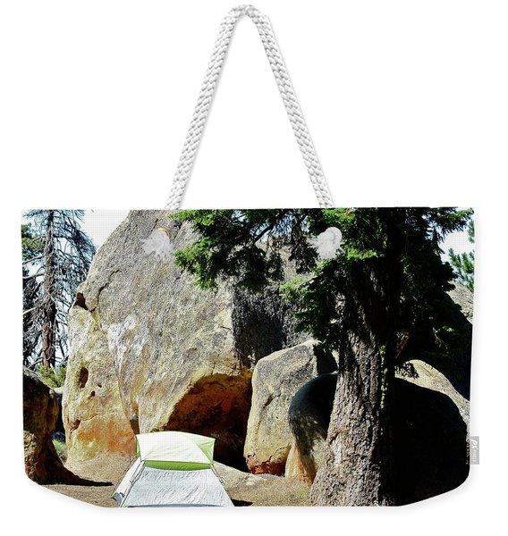 Let's Go Camping Weekender Tote Bag
