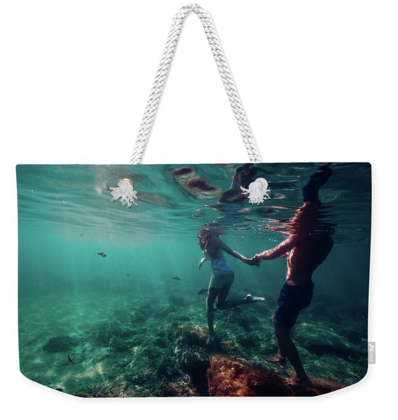 Let's Go Weekender Tote Bag