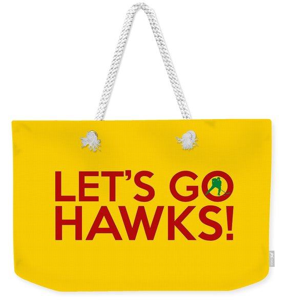 Let's Go Hawks Weekender Tote Bag