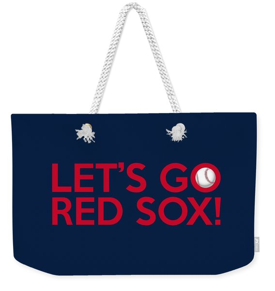 Let's Go Red Sox Weekender Tote Bag