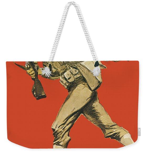 Let's Go - Vintage Marine Recruiting Weekender Tote Bag