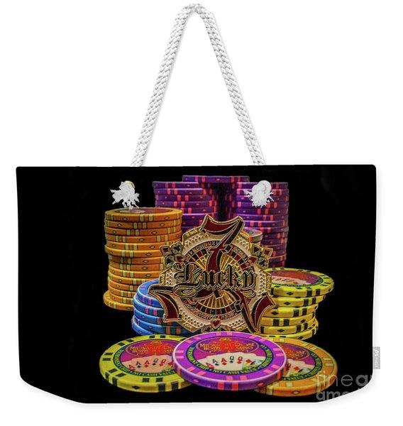 Lets Play Poker Weekender Tote Bag