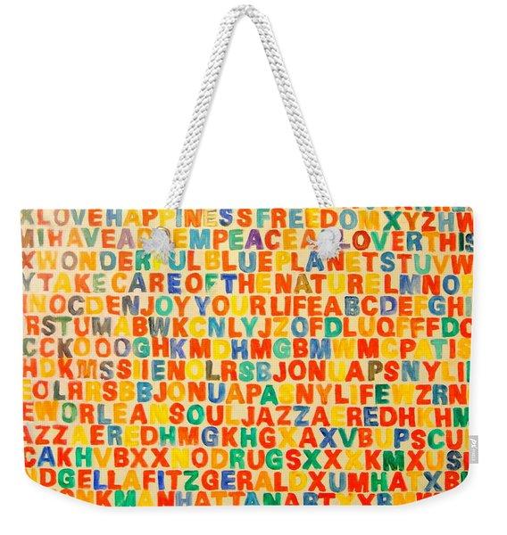 Letters Weekender Tote Bag