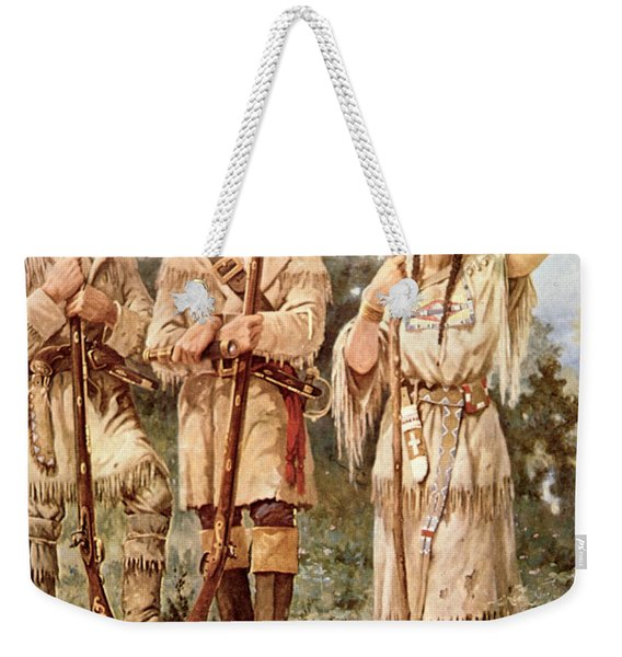 Lewis And Clark With Sacagawea Weekender Tote Bag