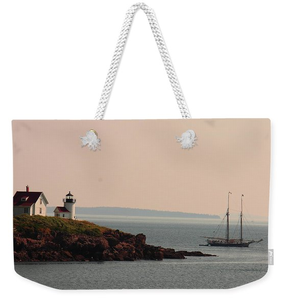 Lewis R French At The Curtis Island Lighthouse Weekender Tote Bag