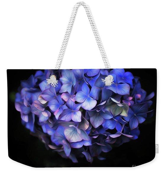 l'Hortensia bleu Weekender Tote Bag