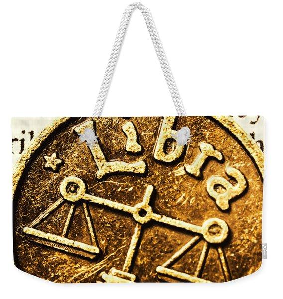 Libra Star Sign Weekender Tote Bag