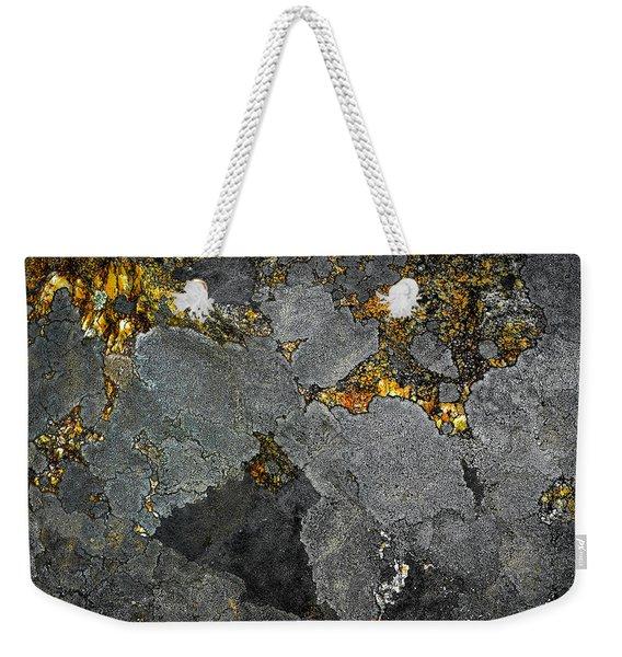 Lichen On Granite Rock Abstract Weekender Tote Bag