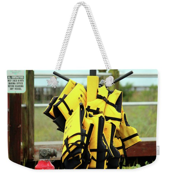 Life Jacket Station Weekender Tote Bag