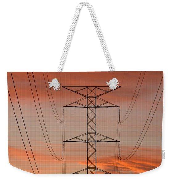 Life On The Grid Weekender Tote Bag