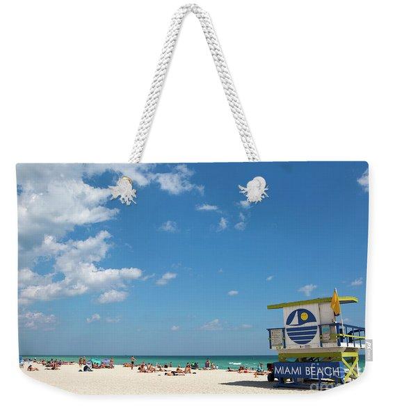 Lifeguard Station Miami Beach Florida Weekender Tote Bag