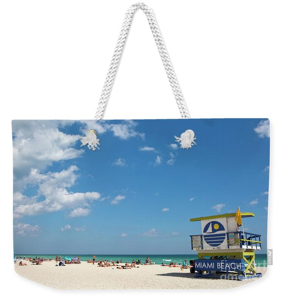 Lifeguard Station Miami Beach Florida Weekender Tote Bag