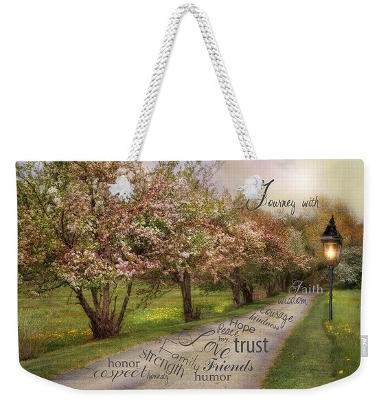 Life's Journey Weekender Tote Bag