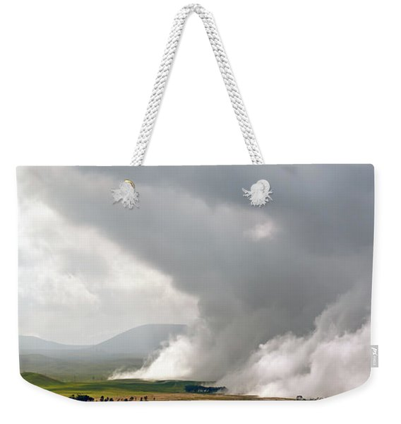 Lifting Fog Weekender Tote Bag