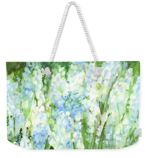 Light Blue Grape Hyacinth. Weekender Tote Bag