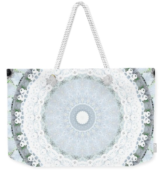 Light Blue Mandala- Art By Linda Woods Weekender Tote Bag