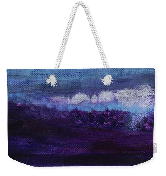 Weekender Tote Bag featuring the painting Light Breaks Through by Kim Nelson