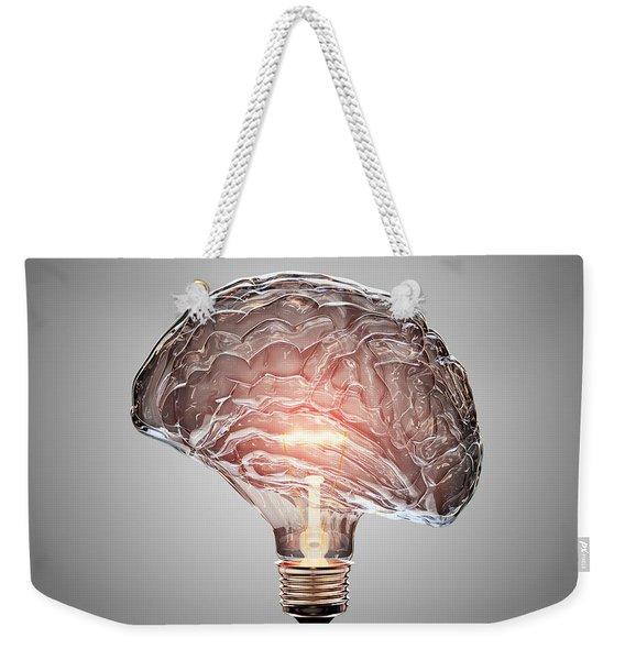 Light Bulb Brain Weekender Tote Bag