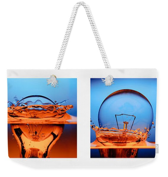 Light Bulb Drop In To The Water Weekender Tote Bag